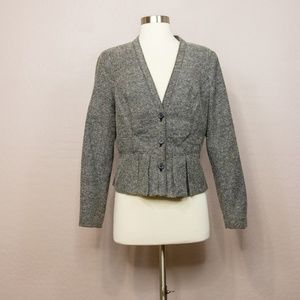 Worthington Dark Gray Peplum Blazer